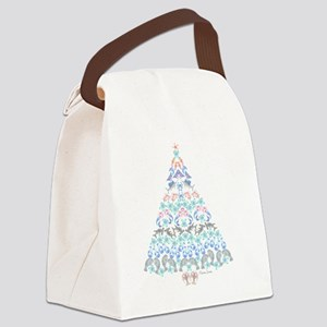 Marine Christmas Tree Canvas Lunch Bag
