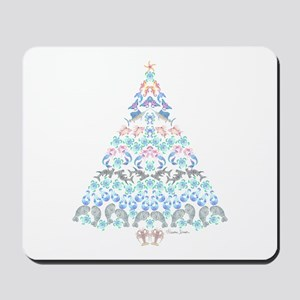 Marine Christmas Tree Mousepad
