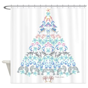 Mermaid And Dolphin Shower Curtains