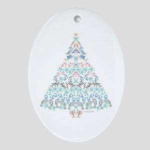 Marine Christmas Tree Oval Ornament