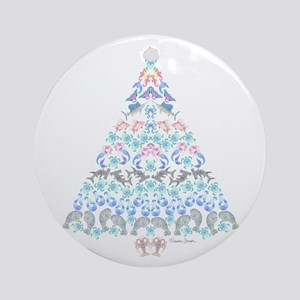 Marine Christmas Tree Round Ornament