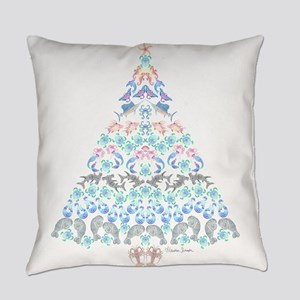 Marine Christmas Tree Everyday Pillow