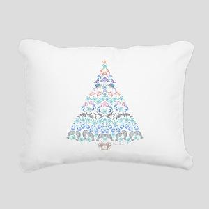 Marine Christmas Tree Rectangular Canvas Pillow