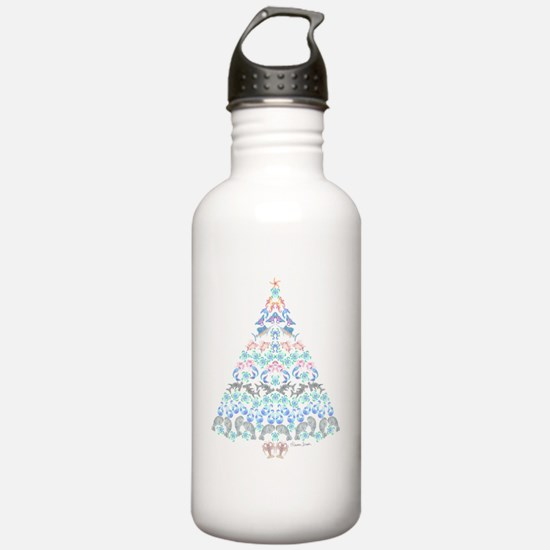 Marine Christmas Tree Water Bottle