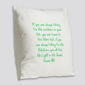 Light in the Tunnel Burlap Throw Pillow