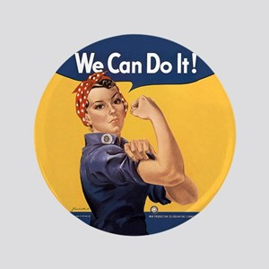 """Rosie the Riveter We Can Do It 3.5"""" Button"""