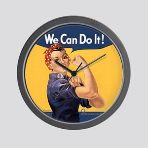 Rosie the Riveter We Can Do It Wall Clock