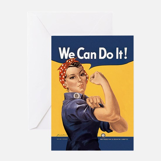 Rosie the Riveter We Can Do It Greeting Card