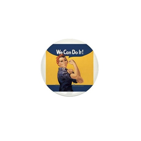 Rosie the Riveter We Can Do It Mini Button