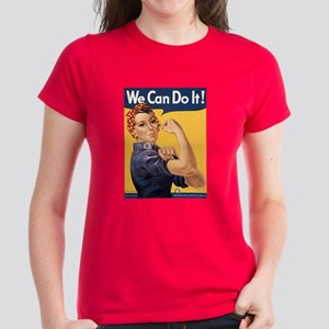Rosie the Riveter We Can Do It Women's Dark T-Shir
