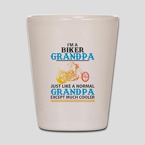 Biker Grandpa... Shot Glass