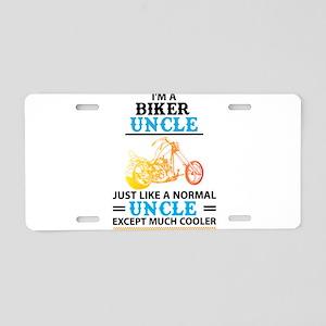 Biker Uncle... Aluminum License Plate