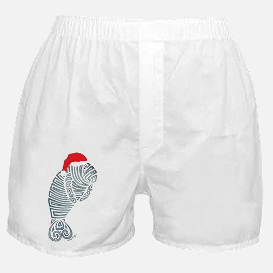 Tribal Santa Manatee Boxer Shorts