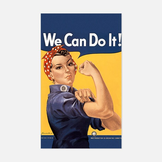 Rosie the Riveter We Can Do It Sticker (Rectangle)