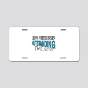 Cross Country Running Outst Aluminum License Plate
