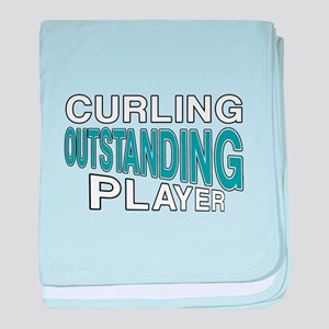 Curling Outstanding Player baby blanket