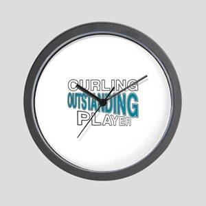 Curling Outstanding Player Wall Clock