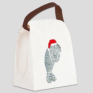 Tribal Santa Manatee Canvas Lunch Bag