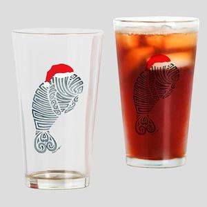 Tribal Santa Manatee Drinking Glass