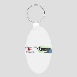 bordercollie_lovesflyball_bumper Keychains