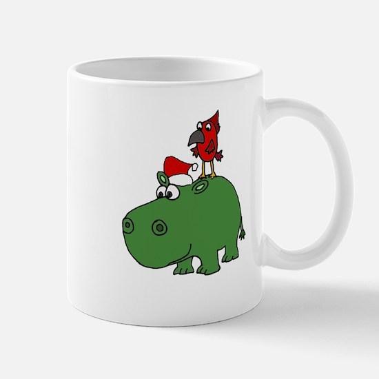 Funny Christmas Hippopotamus Mugs