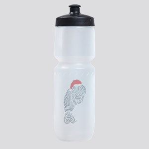 Tribal Santa Manatee Sports Bottle
