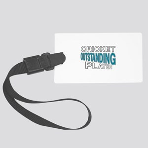 Cricket Outstanding Player Large Luggage Tag