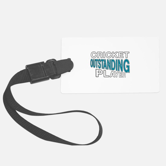 Cricket Outstanding Player Luggage Tag