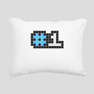 #1 (Pixel Art) Rectangular Canvas Pillow
