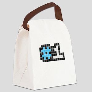 #1 (Pixel Art) Canvas Lunch Bag