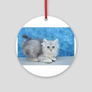 Ella - Silver Tabby Ragamuffin Kitten Round Orname