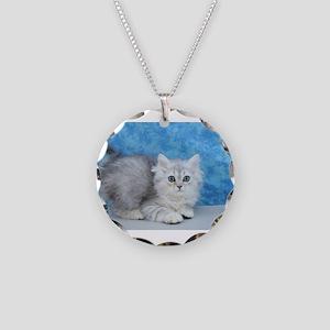 Ella - Silver Tabby Ragamuffin Kitten Necklace