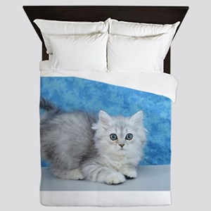 Ella - Silver Tabby Ragamuffin Kitten Queen Duvet