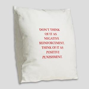 conditioning Burlap Throw Pillow