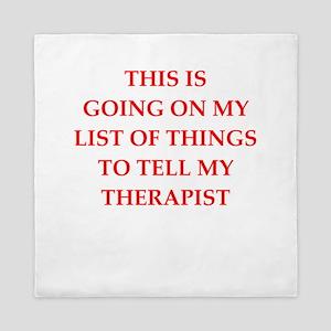 therapist Queen Duvet