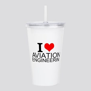 I Love Aviation Engineering Acrylic Double-wall Tu