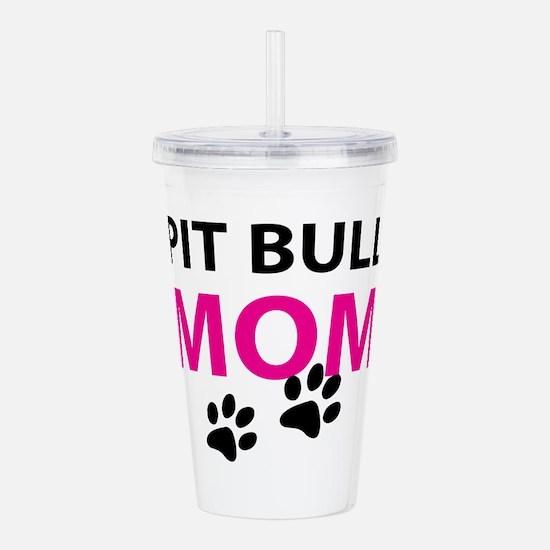 Pit Bull Mom Acrylic Double-wall Tumbler