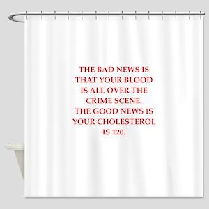 good news Shower Curtain