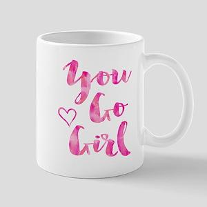 You Go Girl Watercolor Inspirational Quote Mo Mugs