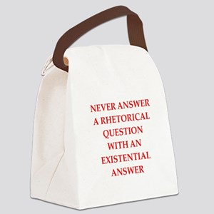 question Canvas Lunch Bag