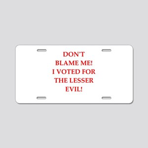 election Aluminum License Plate