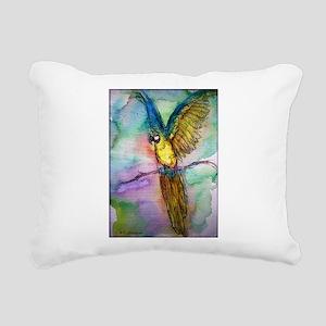Blue/gold Macaw, parrot art! Rectangular Canvas Pi