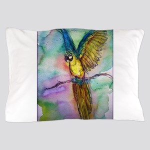 Blue/gold Macaw, parrot art! Pillow Case