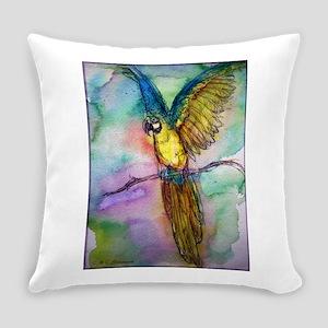 Blue/gold Macaw, parrot art! Everyday Pillow