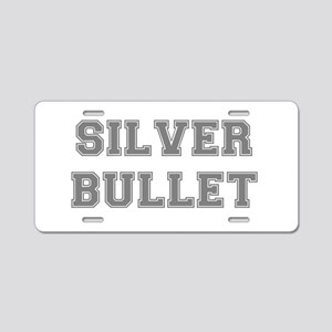 SILVER BULLET Aluminum License Plate