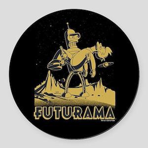 Futurama Bender and Fry Round Car Magnet