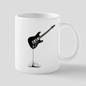Fluid Black Guitar Mugs