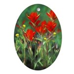 Indian Paintbrush Oval Ornament