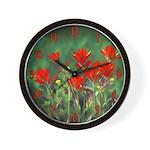 Indian Paintbrush Wall Clock