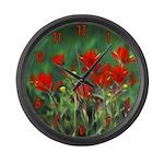 Indian Paintbrush Large Wall Clock